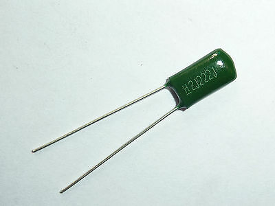 200pcs 2A182 0.0018uf 1.8nf 1800pf 100V Mylar Film Capacitor
