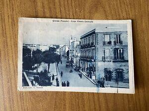 CARTOLINA GINOSA TARANTO CORSO VITTORIO EMANUELE VIAGGIATA 1952 22