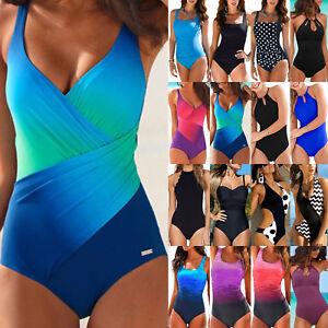 Damen Push Up Bikini Monokini Strand Badeanzug Bademode Einteiler Schwimmanzug