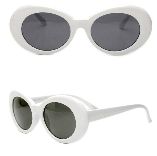 Goggles White Kurt Cobain Hypebeast Sunglasses Glasses Rapper Cool Clout Oval n0mwvN8O