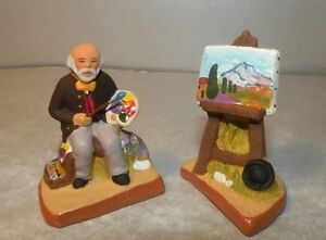 NEW Famous painter from Aix en Provence with his easel, 4 cm Santons Fouque