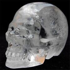 150g   Natural  CLEAR QUARTZ CRYSTAL skull,Crystal Skull Healing GT16
