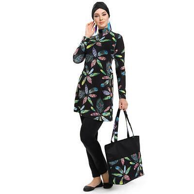 Womens Islamic Muslim Full Cover Costumes Modest Swimwear Beachwear Swimming
