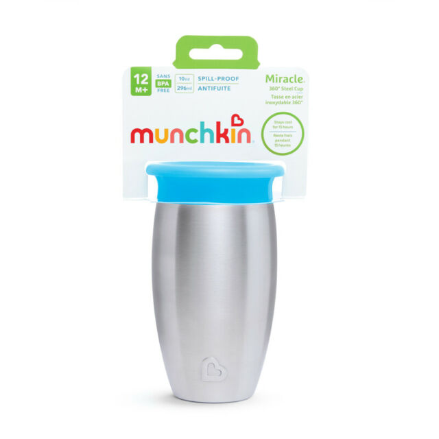 Munchkin Miracle 360 Stainless Steel Sippy Cup 296ml Blue