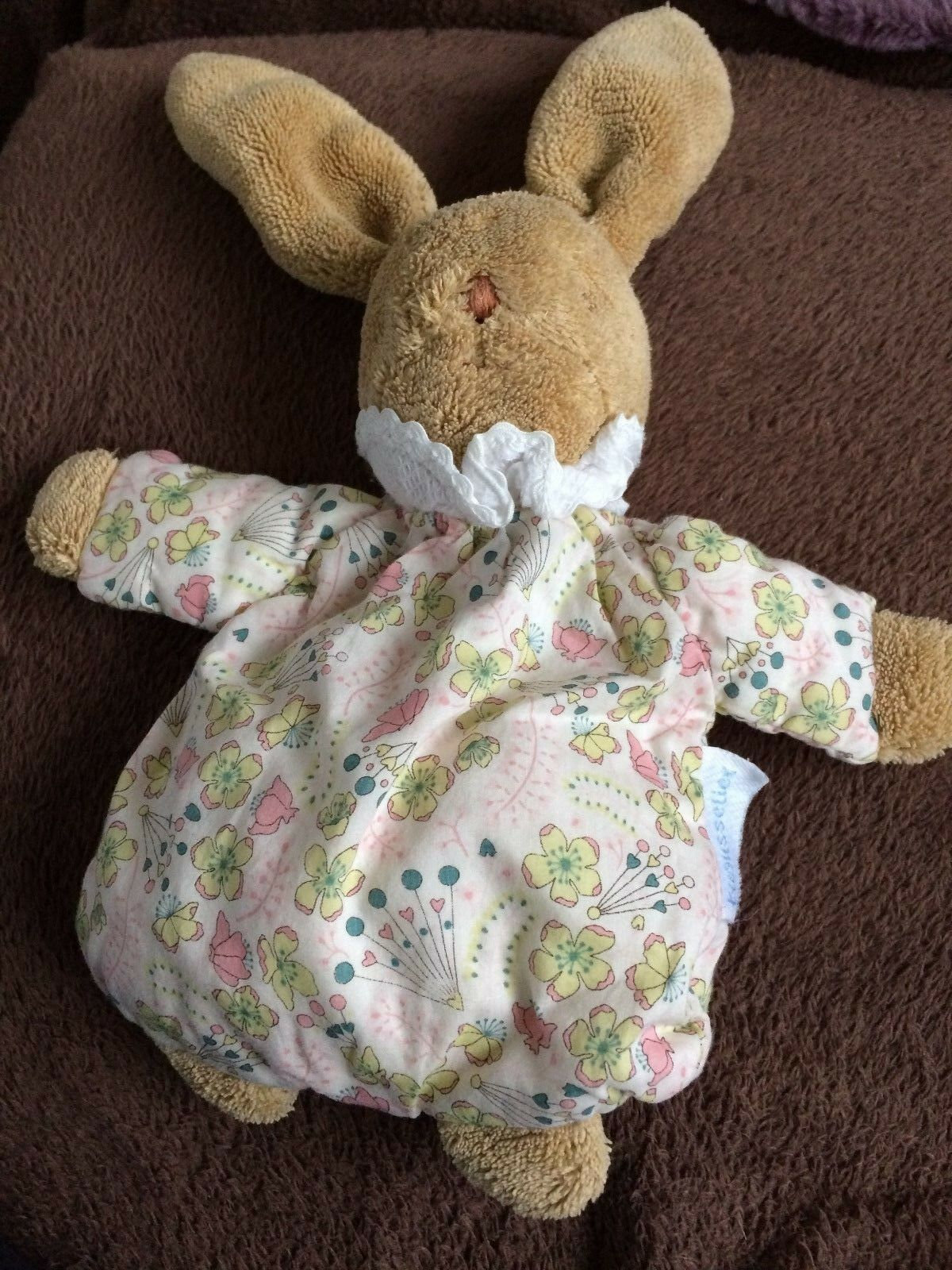 TREUSSELIER FRANCE SMALL SOFT TOT BUNNY RATTLE
