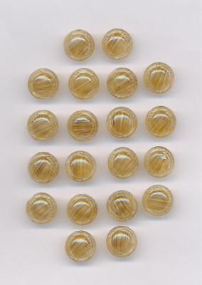 100-20 Stück tolle alte Glasknöpfe Zweiloch kristall DM 11 mm♥ ♥Nr