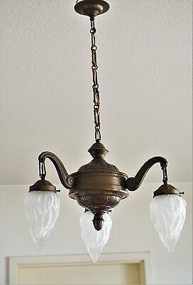 Alte Deckenlampe im Empire Stil Antik kronleuchter Lampe Chandelier Altmessing
