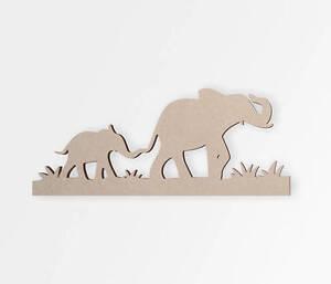 Wooden Shape Safari Elephant Decor, Wooden Cut Out, Wall Art, Home Decor