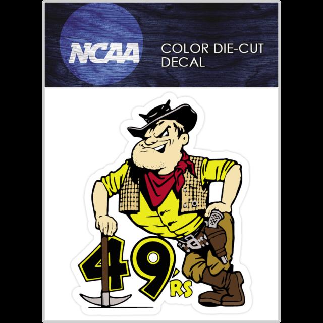 Long Beach State 49ers Mascot 2000-2013 Logo NCAA Die Cut Vinyl Car Decal Bumper