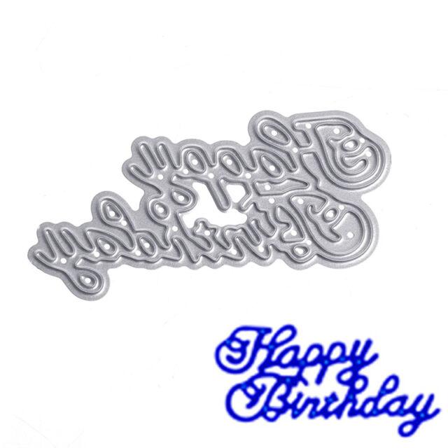 Happy Birthday Cutter Cutting Dies Stencils Scrapbooking Craft Album Embossing