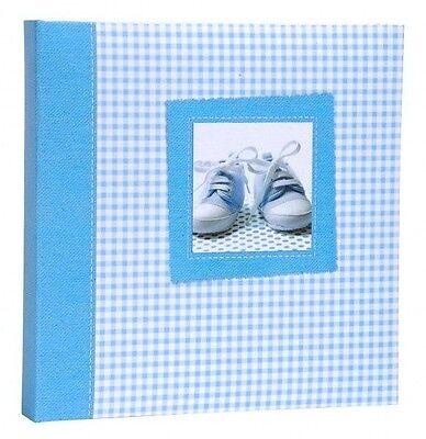 Album Portafoto Azzurro Con Scarpette 120 Foto Formato 10x15 Cm - Cod 1908