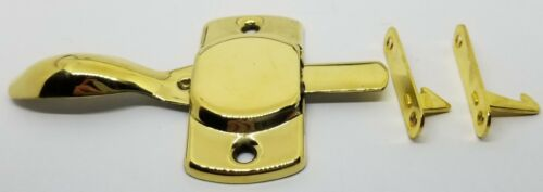 Left /& Right Hand Plain BRASS Cabinet Latch Blank Hoosier Sellers antique vintag