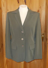 BETTY BARCLAY olive green khaki single breasted suit jacket coat 20 46-48