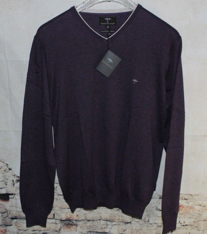 FYNCH-HATTON PIMA COTTON/ CASHMERE PULLOVER SIZE XXL
