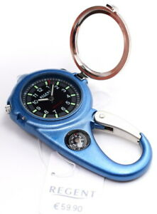 Regent-Taschenuhr-Guerteluhr-mit-Licht-Lupe-Kompass-und-Karabiner-UVP-59-90-EUR