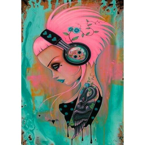 5D Full Drill Diamond Painting Skull Beauty Cross Stitch Embroidery Craft Gift