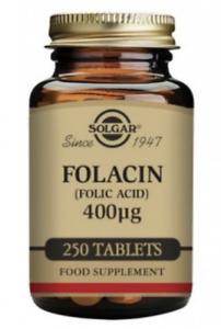 Solgar Vit B9 Folacin Folic Acid 400 mcg 250 Tablets rrp £12 Vegan Healthy Baby