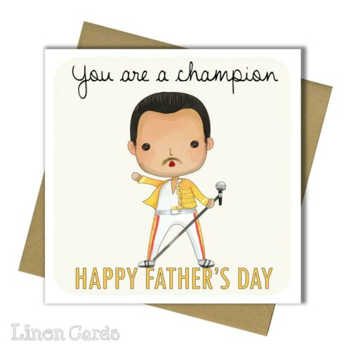 Father/'s Day Card Dad Card Freddie Mercury Queen Card Fathers Day Card