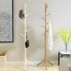Porte-manteau-blanc-176cm-Avec-support-parapluie-Support-manteau-parapluie
