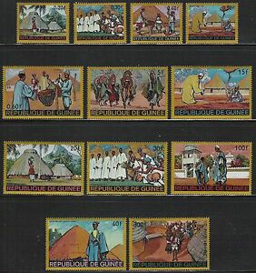 Guinea-Scott-493-503-C100-Homes-and-People-of-Africa-complete-set-of-12-MNH