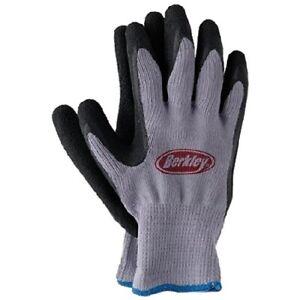 Mon ChéRi Berkley Fish Grip Gants No Slip Coated Pêcheurs Gants Bleu Et Gris #btfg-afficher Le Titre D'origine