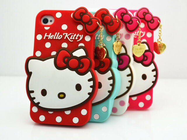 Cute Hello Kitty Soft Silicone Full Back Cover Case For iPhone 4/4s 5/5s/5c/6/6s