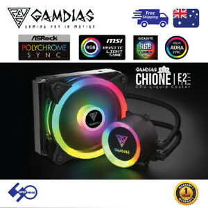 PC-CPU-Liquid-Water-Cooler-120mm-Addressable-RGB-for-Intel-AMD-E2-120-LITE