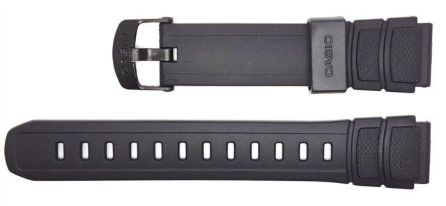 Casio Correa de reloj 18mm resina Band negro Hda 600 Hda 600b