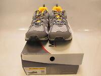 Mountrek Mens Horizon Trail Gray/yellow Running Shoes Us 12; Eu 46 (i4049)