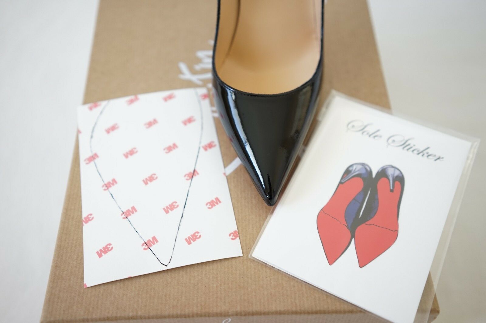 efbf3c3db35c7 Details about Crystal Clear 3M sole protector guard for Christian Louboutin  red bottom heels