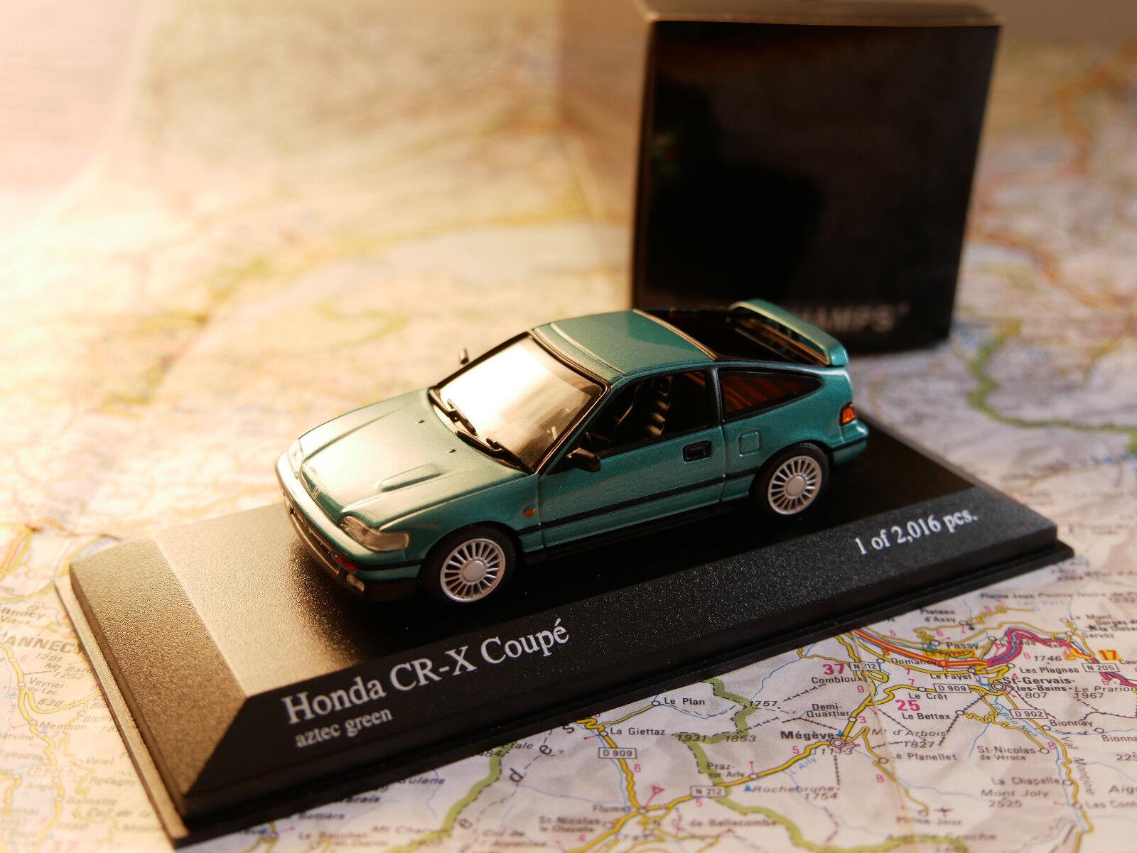 MINICHAMPS CR-X COUPÉ 1989 vert MET.  ART. 430161528  NEW DIE-CAST