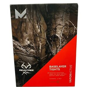 Mission-Active-Men-s-Realtree-Xtra-Baselayer-Tights-Vapor-Active-Size-M-New