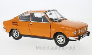 Skoda 110r Coupe 1980 arancia - 1 18 Abrex    New