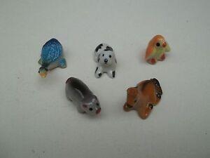 Lot De 5 Animaux Miniature En Céramique 2 à 3 Cm S1-13 Mnweg21j-07230457-322754641