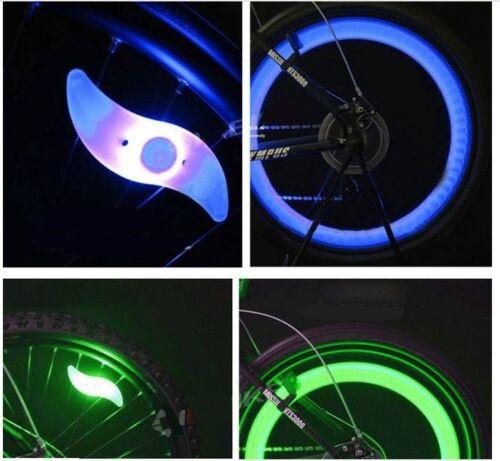 2x VERDE Bicicleta Bici Ciclismo Radios De Rueda Alambre para led BRILLANTE