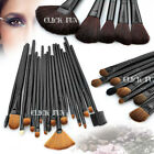 32 PCS Cosmetic Make Up Makeup Brushes Brush Set Kit Goat Hair+ Leather Case AU