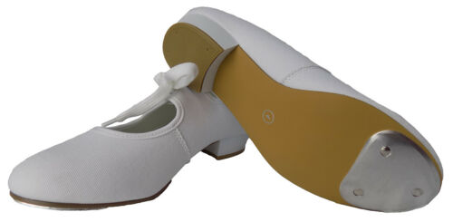 Tap Shoes with Toe Taps Canvas Low Heel in White or Black