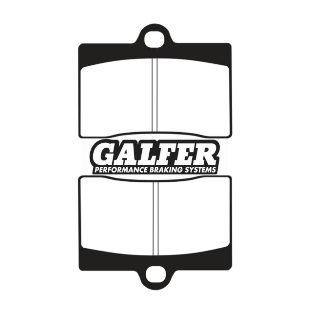 Coppia pastiglie freno anteriori Galfer FD068