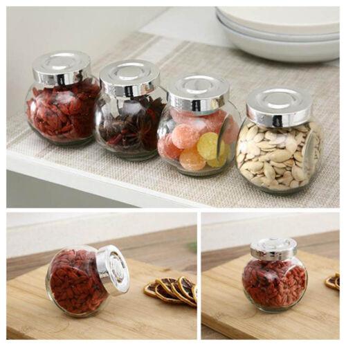 Retro Simple Sealed Glass Tea Candy Storage Tank Plastic Jar Buffet Wzt tkCzp