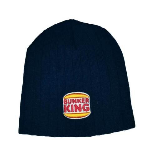 Navy Blue BK Logo Bunker Kings Beanie