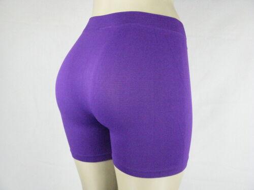 Women/'s Natural Curves Nylon Spandex Bike Leggin Shorts Gym Pilate Jogging Pants