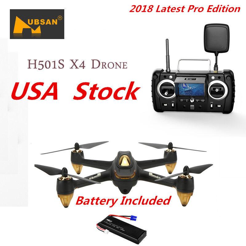 Hubsan X4 H501S Pro RC Quadcopter Brushless 1080P FPV Altitude Follow Me GPS RTF