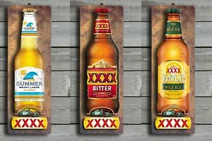 FREE POST Stubby Image XXXX Bitter 3D LOOK Rustic Wooden BAR Plaque Sign