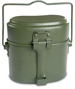 Camping Besteck 8 tlg Geschirr Outdoor Teller Thermo-Tasse BW Besteck-Set nac TL