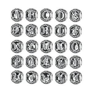 Vintage-Letter-26-Alphabet-925-Sterling-Silver-Charm-Bead-Fits-European-Bracelet