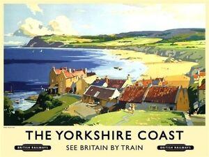 Yorkshire-Cotier-Robin-des-Bois-Bay-Plage-Chemins-de-Fer-Britanniques-Moyen