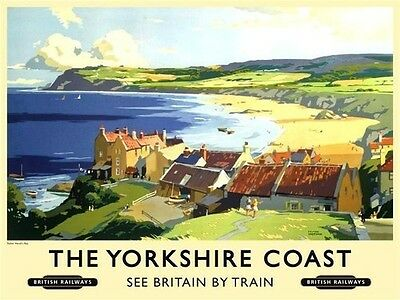 Yorkshire Coast Robin Hood Bay Beach British Railways Medium Metal Steel Sign