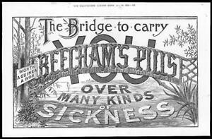 1899-Antique-Print-ADVERTISING-Beechams-Pills-Bridge-Sickness-82