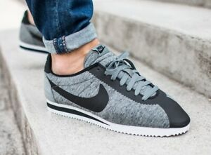 Details about Nike Classic Cortez TP Tech Pack Men's Fleece Grey 749654-002  Black Gray Rare
