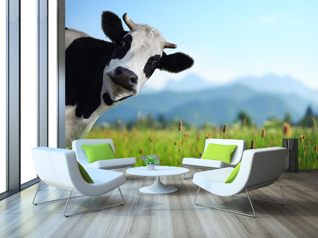 3D Grass, cow 49 Wall Paper Print Wall Decal Deco Indoor Wall Murals